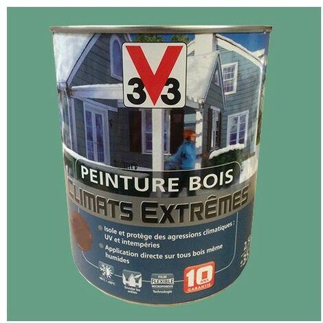 Peinture Bois V33 Climats Extrêmes Brillant Vert olive 2,5 L - Vert olive