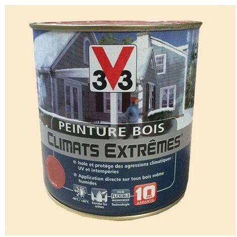 Peinture Bois V33 Climats Extrêmes Satin Blanc cassé 0,5 L - Blanc Cassé