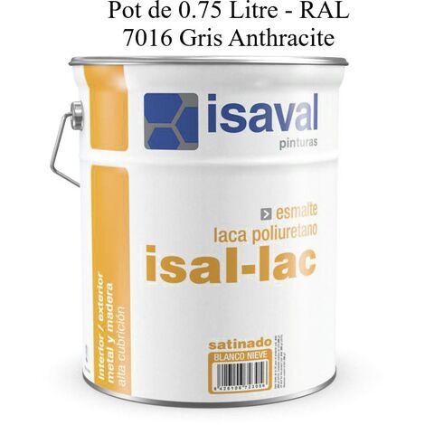 Peinture Boiserie / Métal 0.75 Litre isal-lac RAL 7016 Gris Anthracite - Isaval