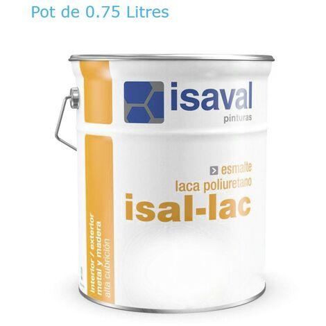 Peinture Boiserie / Métal 0.75 Litre isal-lac - RAL 9005 Noir Foncé Isaval