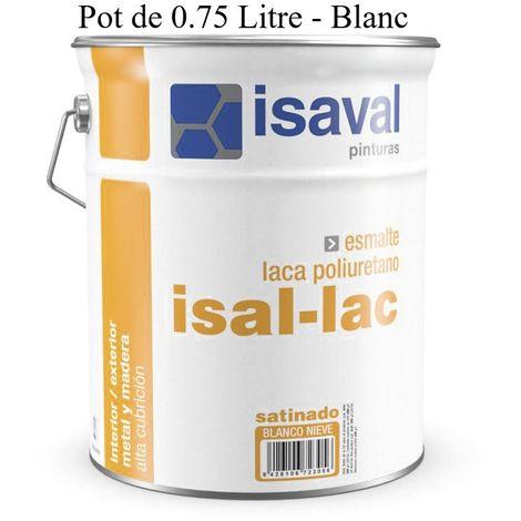 Peinture Boiserie / Métal 0.75 Litre Satinée Blanc isal-lac - Isaval