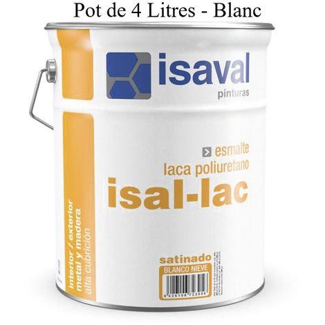 Peinture Boiserie / Métal 4 Litres Blanc Isal-lac - Isaval