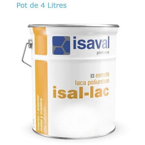 Peinture Boiserie / Métal 4 Litres isal-lac RAL 7004 Gris Sécurité - Isaval