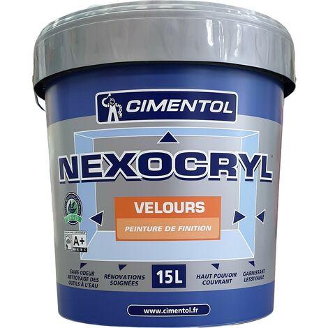 Peinture CIMENTOL Nexocryl Velours BLANC 15L | Votre teinte: Blanche - Conditionnement: 15 Litres