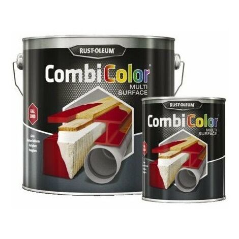 Peinture combicolor multi-surface brillantcoloris ral : 7001gris cdt : 0,75 l couleur