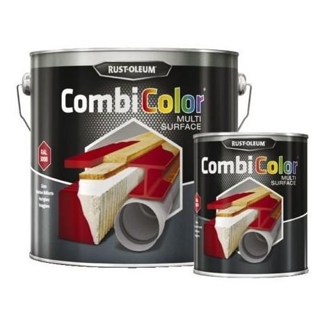 Peinture combicolor multi-surface brillantcoloris ral : 9005noir profond cdt : 2,5 l