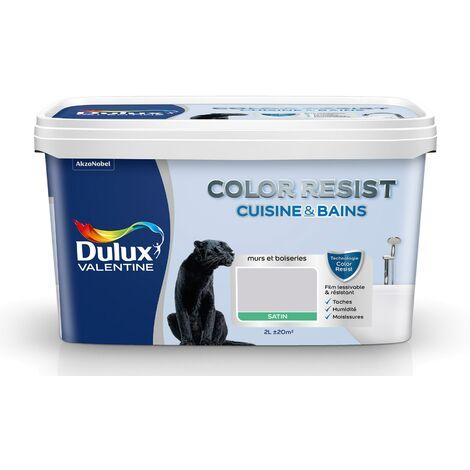 Peinture Color Resist Cuisine & Bains Satin Poudre De Riz 2 L - Dulux Valentine