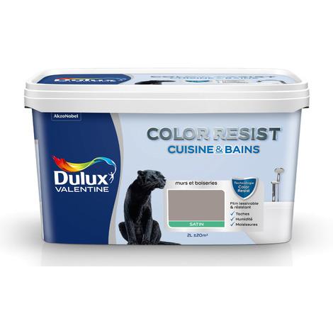 Peinture Color Resist Cuisine & Bains Satin Terre Cendrée 2 L - Dulux Valentine