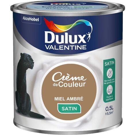Peinture Crème De Couleur Satin Miel Ambré 0 5 L Dulux