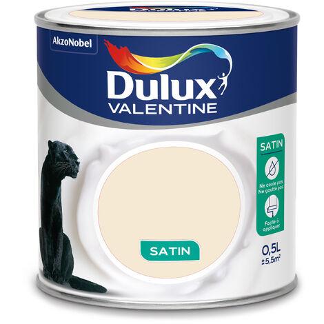 Peinture Creme De Couleur Satin Blanc Casse 0 5 L Dulux Valentine 5158724