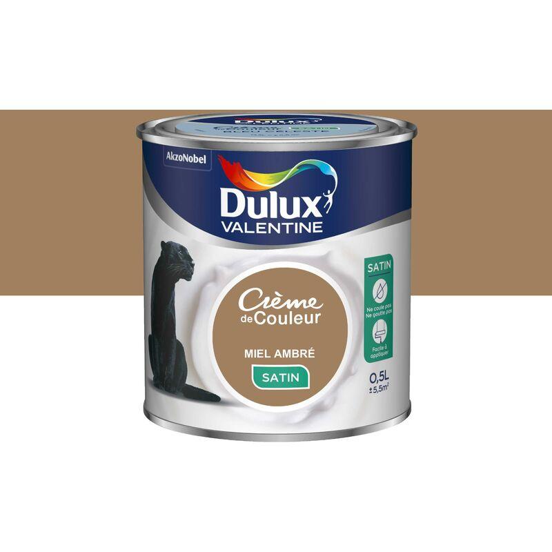 Peinture Crème De Couleur Satin Miel Ambré 05 L Dulux Valentine