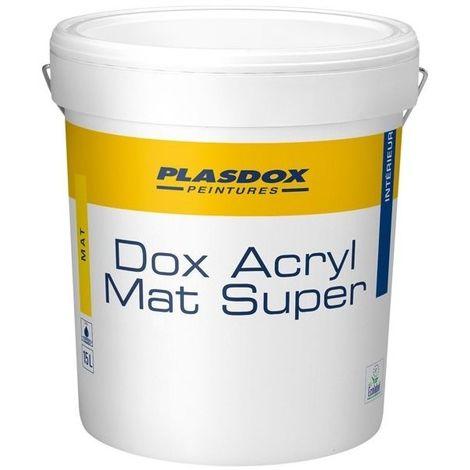 Peinture de finition Mat PLASDOX Mat Super BLANC 15L | 15 Litres