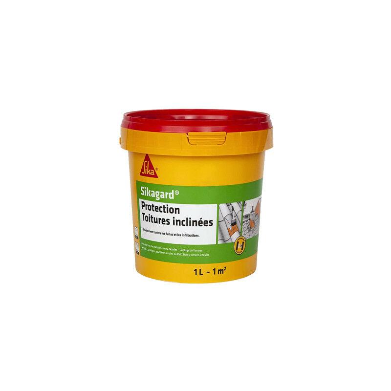 Peinture de protection SIKA Sikagard Protection Toiture inclinée - Terre cuite - 1L - 460550