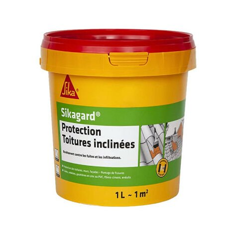 Peinture de protection SIKA Sikagard Protection Toiture inclinée - Blanc- 1L