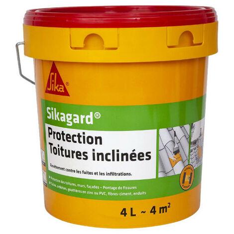 Peinture de protection SIKA Sikagard Protection Toiture inclinée - Blanc - 4L