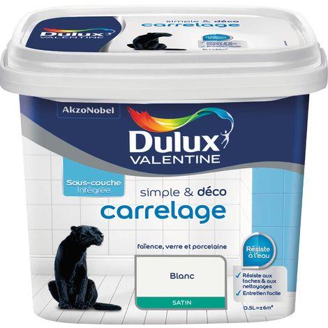 Peinture de rénovation carrelage Dulux - 500 ml - Blanc satiné