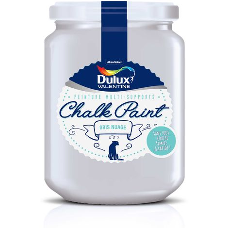 Peinture De Rénovation Chalk Paint Ultra Mat Gris Nuage 0,4 L - Dulux Valentine