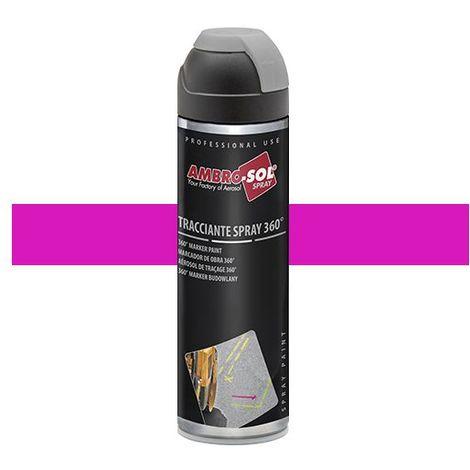 Peinture de traçage 500 ml avec diffuseur à 360 degrés Fuchsia fluorescent - V403FUCSIAF - Ambro-sol - Fushia - Fluo