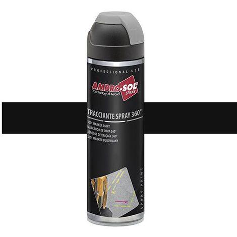 Peinture de traçage 500 ml avec diffuseur à 360 degrés Noir pastel - V403NERO - Ambro-sol - Noir