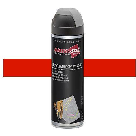 Peinture de traçage 500 ml avec diffuseur à 360 degrés Rouge fluorescent - V403ROSSOF - Ambro-sol - Rouge - Fluo
