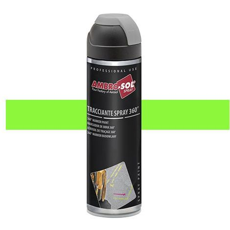 Peinture de traçage 500 ml avec diffuseur à 360 degrés Vert fluorescent - V403VERDEF - Ambro-sol - Vert - Fluo