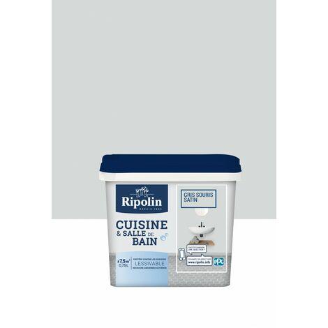 Peinture décoration cuisine & salle de bain satin 0,75L RIPOLIN - plusieurs modèles disponibles
