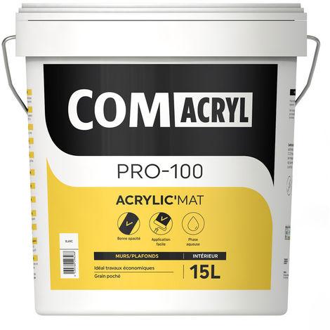 Peinture décorative acrylique velours top rapport qualité/prix : Comus Comacryl Acrylic'Velours (15L) - Idéale pour les murs de toute la maison