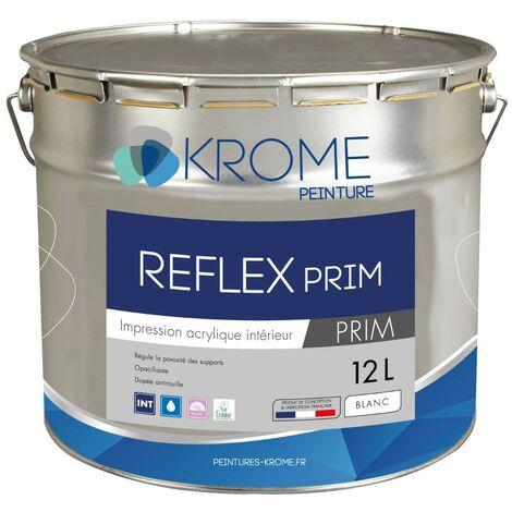 Peinture d'impression acrylique Krome Reflex Prim   Couleur: Blanc - Conditionnement: 12L