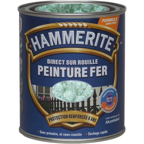 Peinture Direct Sur Rouille Martelée Vert Jade 0,75 L - Hammerite