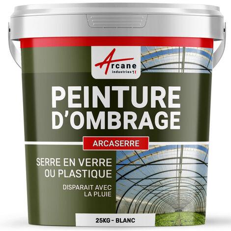 Peinture d'ombrage serres plastiques vitrages agricoles ou industriels - ARCASERRE - ARCANE INDUSTRIES - Blanc - 25 Kg - Blanc