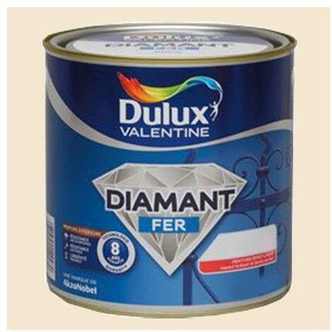 Peinture DULUX VALENTINE Diamant Fer Blanc Cassé Brillant - 2 L