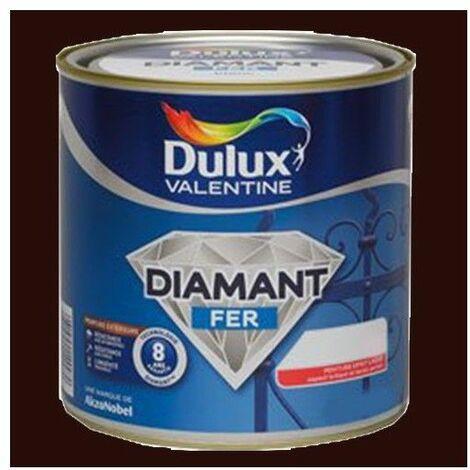 Peinture DULUX VALENTINE Diamant Fer Brun normandie Brillant - 2 L
