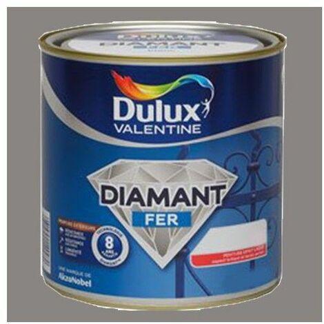 Peinture DULUX VALENTINE Diamant Fer Sierra Brillant - 0,5 L