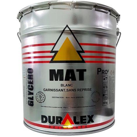 Peinture DURALEX garnissant Mat & Impression BLANC 20kg | 15 Litres