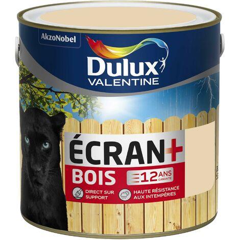 Peinture Ecran+ Bois Satin Sable Clair (RAL 1015) 2 L - Dulux Valentine