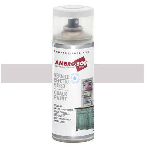 Peinture effet craie 400 ml Blanc gris soie - Blanc gris soie