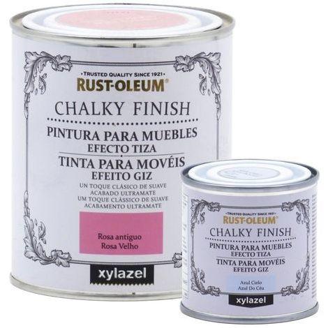 Peinture effet craie Chalk Paint Rust-Oleum Xylazel | 125 ml - 801 craie blanche