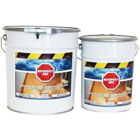 Peinture epoxy anti remontées capillaires humidité - REVEPOXY ARC - ARCANE INDUSTRIES - Transparent - 10 Kg - Transparent