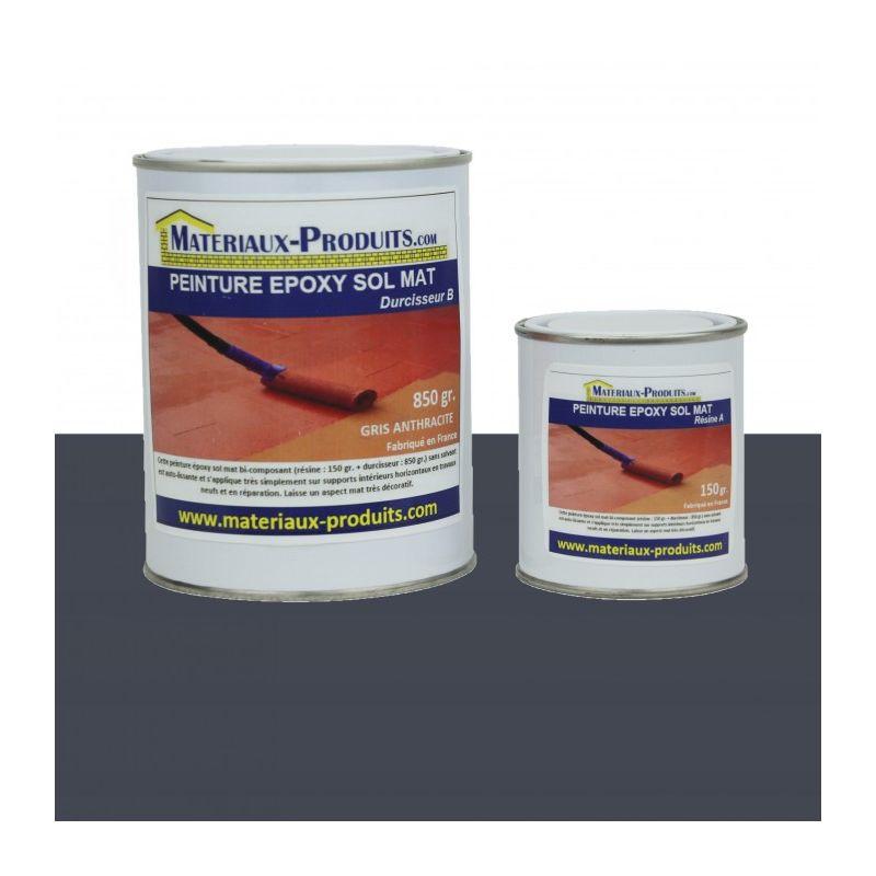 peinture epoxy sol et mur mat gris ardoise 1 kg gris. Black Bedroom Furniture Sets. Home Design Ideas