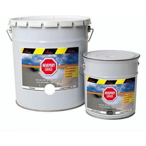 Peinture epoxy sol garage atelier revepoxy garage - Peinture pour mur de garage ...