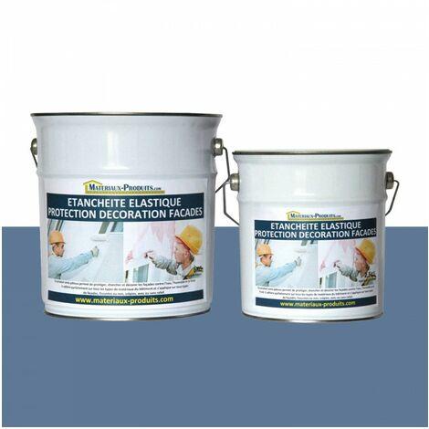 Peinture Etanche & Elastique Pour Protection Façade Bleu Pigeon