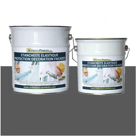 Peinture Etanche & Elastique Pour Protection Façade Gris Basalte