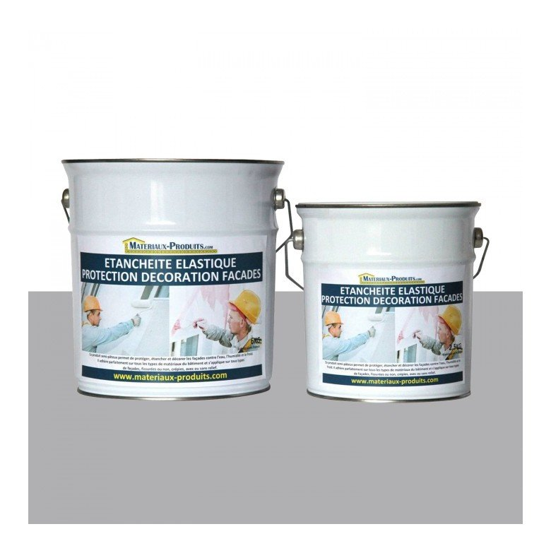peinture etanche elastique pour protection fa ade gris. Black Bedroom Furniture Sets. Home Design Ideas