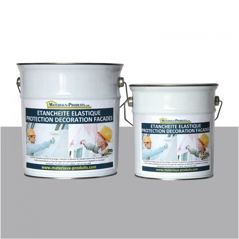Peinture Etanche & Elastique Pour Protection Façade Gris Ciment