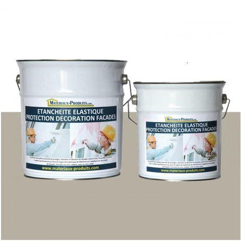 Peinture Etanche & Elastique Pour Protection Façade Gris silex