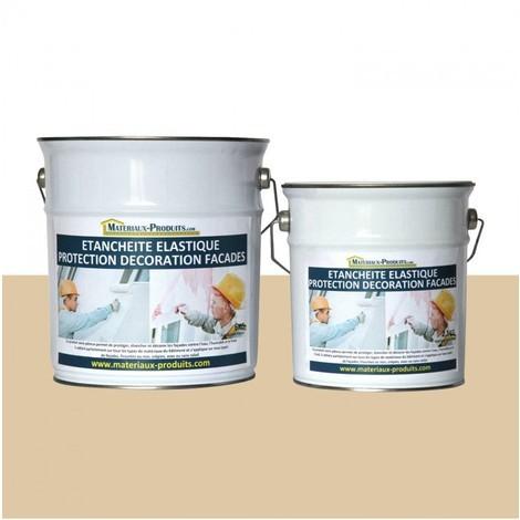 Peinture Etanche & Elastique Pour Protection Façade Jaune Sahara