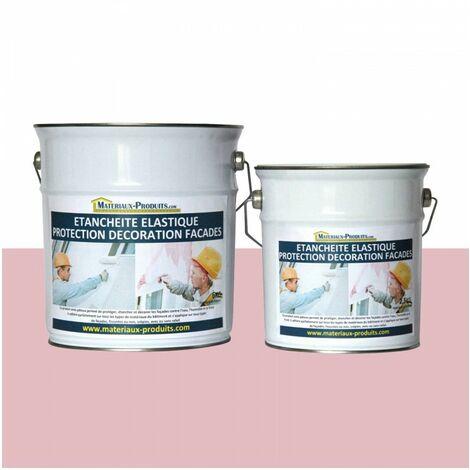 Peinture Etanche & Elastique Pour Protection Façade Rose Clair