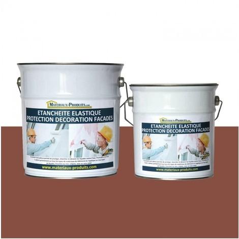 Peinture Etanche & Elastique Pour Protection Façade Rouge Tuile