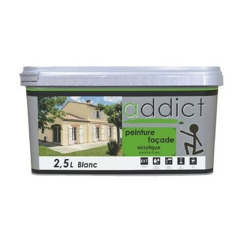 Peinture façade acrylique 2,5L - plusieurs modèles disponibles