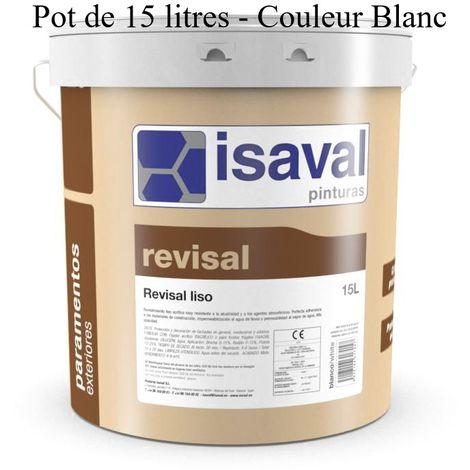 Peinture Façade Revisal lisse 15 Litres RAL 9010 Blanc Pur - Isaval